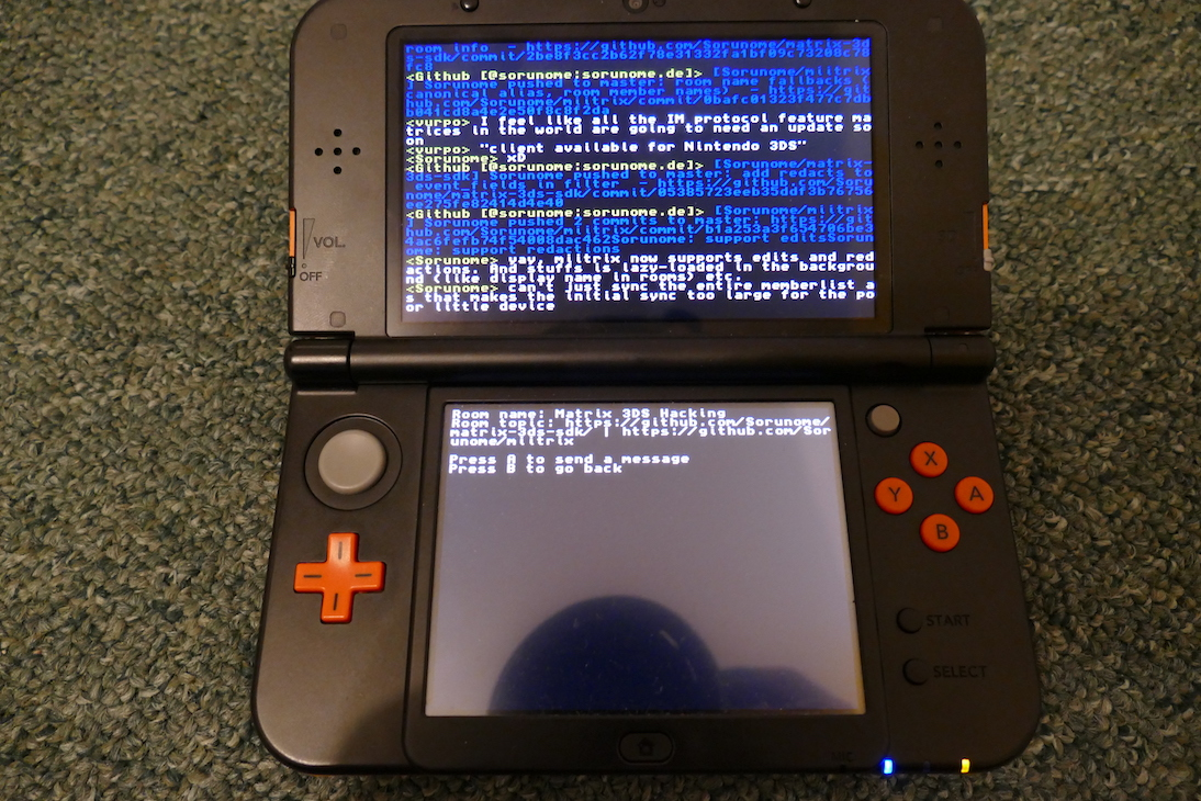miitrix client running on 3DS
